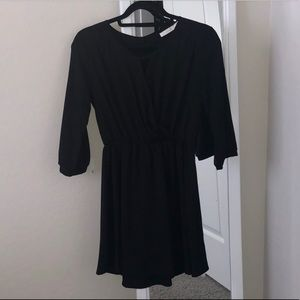 Lush size XS dress with 3/4 length sleeves Black